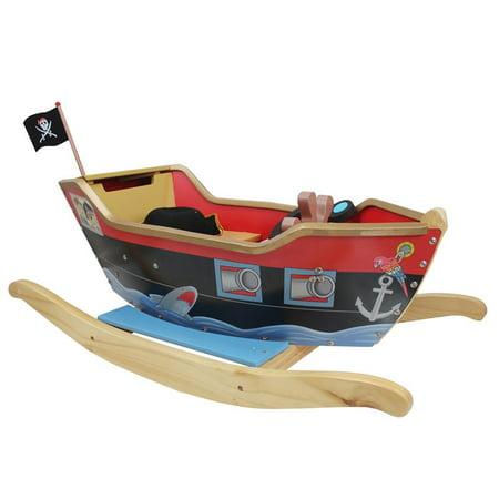Teamson Kids - Little Captain Captain Hook Rocker - Red/Black - Rocker Child