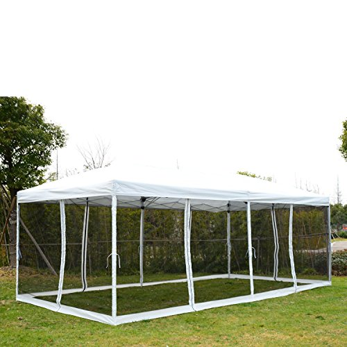 Outsunny 10u0027 x 20u0027 Pop-Up Canopy Shelter Party Tent with Mesh Walls  sc 1 st  Walmart & Outsunny 10u0027 x 20u0027 Pop-Up Canopy Shelter Party Tent with Mesh ...