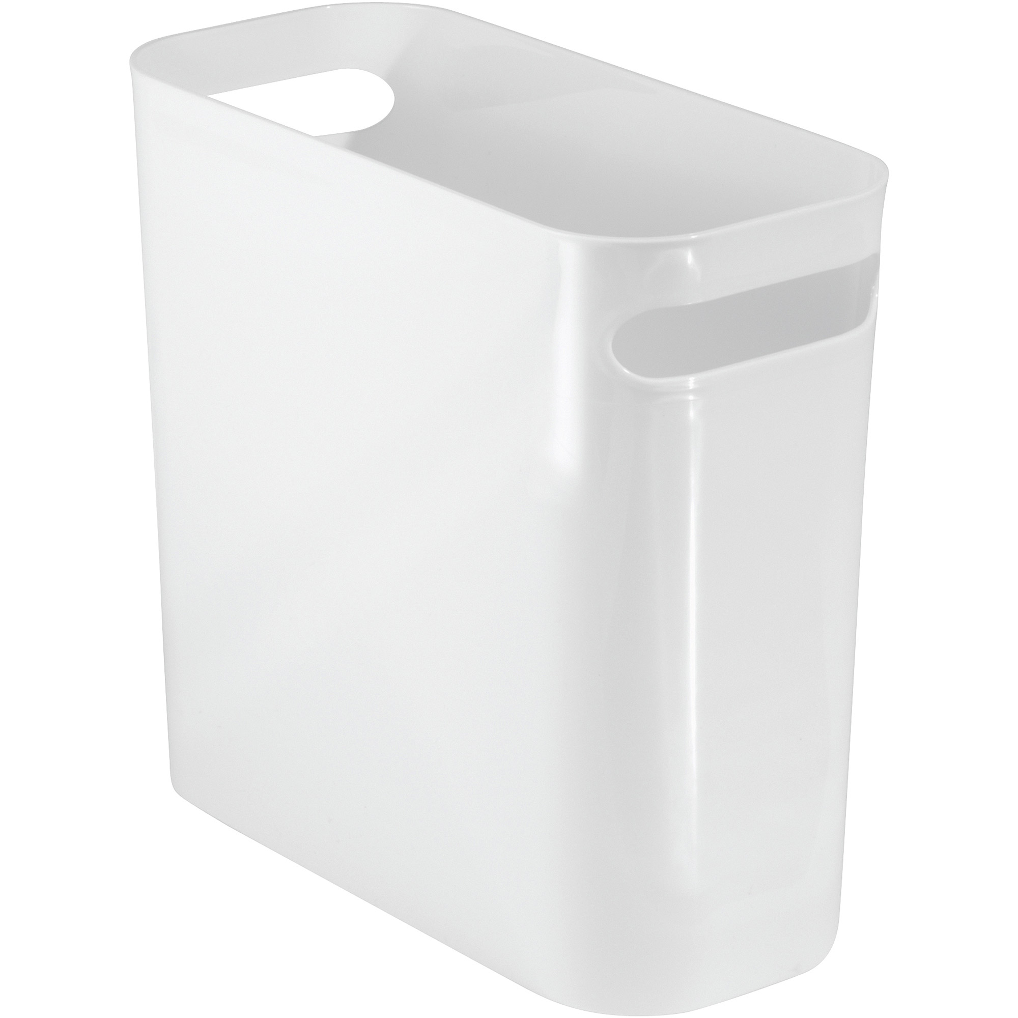 "White Bathroom Garbage Cans interdesign una wastebasket, 10"" - walmart"