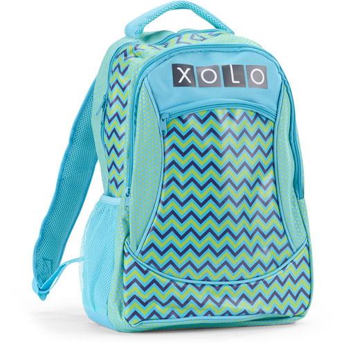 "XOLO Girls' Zig-Zag Print 16"" Backpack"