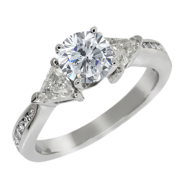 1.93 Ct Round H/I Diamond G/H Diamond 14K White Gold Engagement Ring