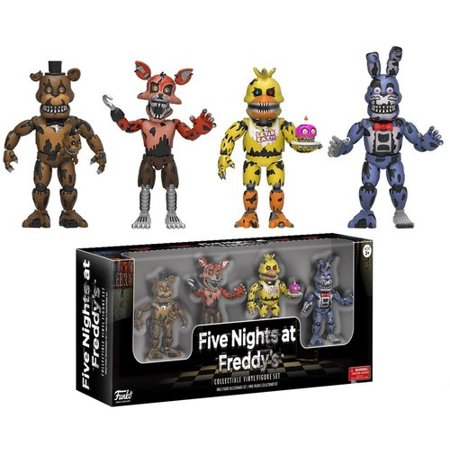 FUNKO 2 VINYL FIGURES FIVE NIGHTS AT FREDDYS 4PK VINYL FIGURE (Chica Five Nights At Freddys Fan Art)