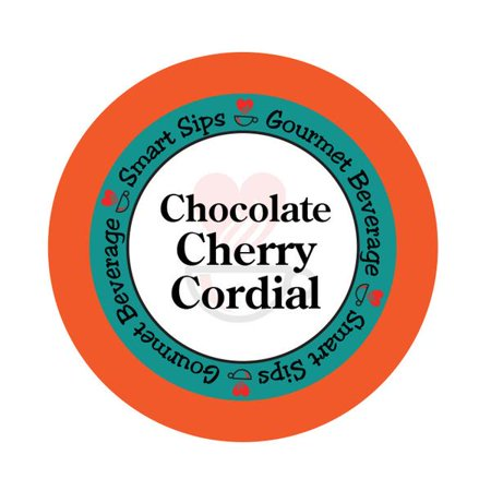 Chocolate Cherry Cordial Flavored Coffee, 24 Count, Single Serve Cups Compatible With All Keurig K-cup - Eggnog Flavored Coffee