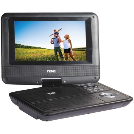 NPD-703 7-Inch TFT LCD Swivel Screen Portable DVD Player - Black lacquer, 7-Inch Widescreen LCD Display By Naxa