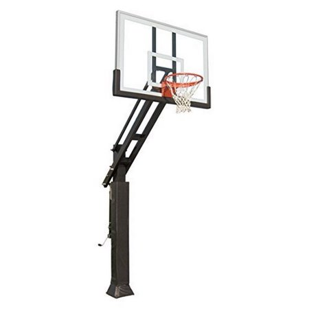 Triple Threat In-ground Adjustable Basketball Goal Hoop with 42