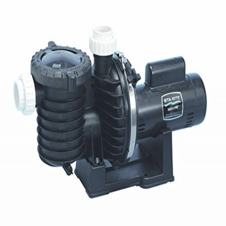 Pentair Sta-Rite P6EA6F-206L Max-E-Pro Energy Efficient Single Speed Up Rated Pool and Spa Pump, 1-1/2 HP,