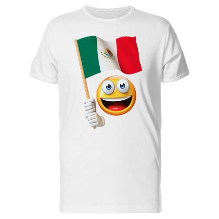 Happy Emoji With Mexican Flag Tee Men's -Image by Shutterstock