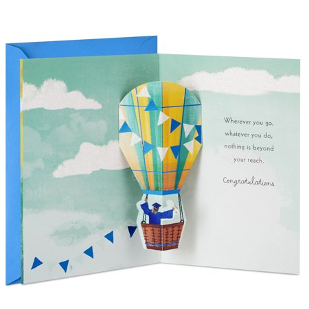 Hallmark Paper Wonder Pop Up Graduation Card (Nothing is Beyond Your Reach)](Printable Pop Up Halloween Cards)