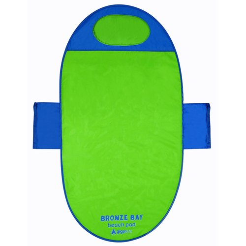 """Popup Beach Mat, Picnic Mat, Camping Blanket - Quick Dry- 36"""" x 65"""" - Includes Headrest, Weight Pockets, Carrying Case"""