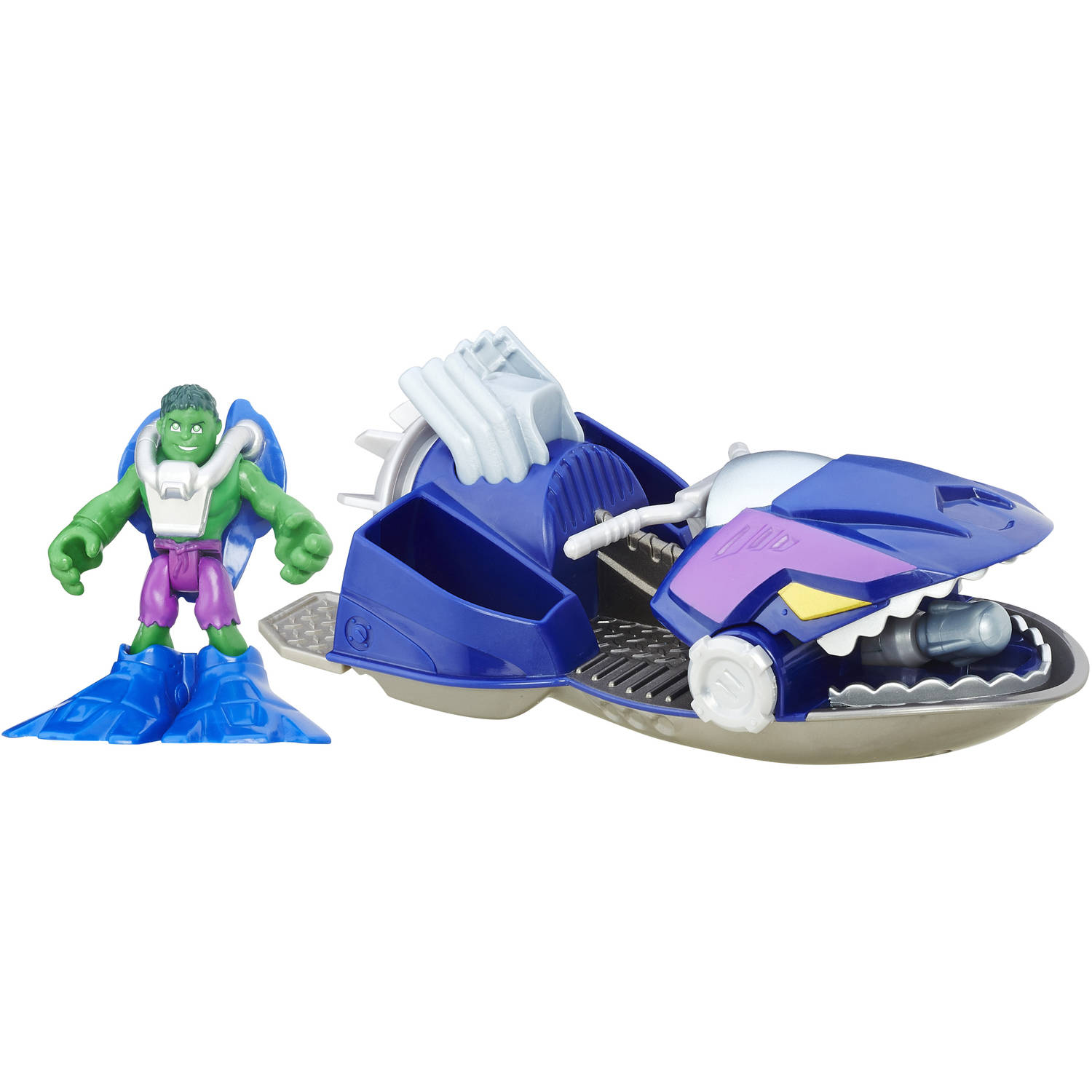 Playskool Heroes Marvel Super Hero Adventures Jet Boat Hulk by Hasbro