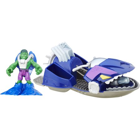 Playskool Heroes Marvel Super Hero Adventures Jet Boat Hulk