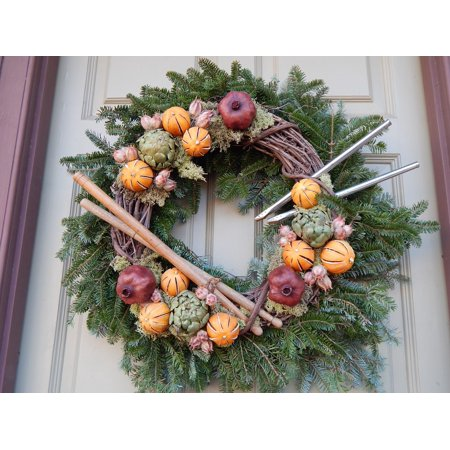 Holiday Williamsburg Fruit - Canvas Print Nature Holiday Decorations Decoration Williamsburg Stretched Canvas 10 x 14