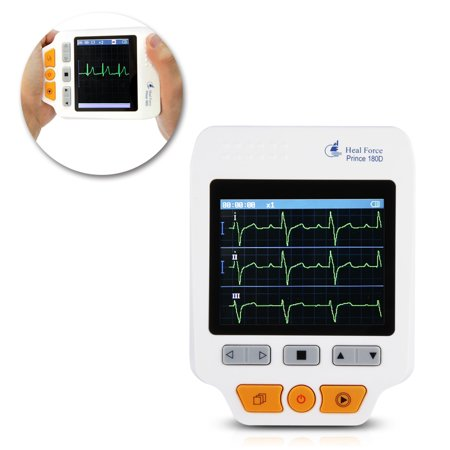 - Heal Force 180D Color Portable ECG Monitor With ECG lead cables And 50pcs ECG electrodes