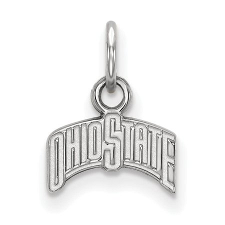 Ohio State Football Pendant - Ohio State Extra Small (3/8 Inch) Pendant (Sterling Silver)