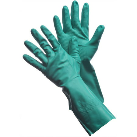 "Green Nitrile Gloves 15 Mil - 13"" Unlined. Size: Medium Lot of 12 Pack(s) of 1 Pair"
