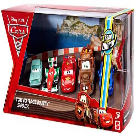 Disney Cars Multi-Packs Tokyo Race Party 5-Pack Diecast Car Set for $<!---->
