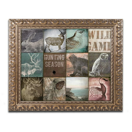 Trademark Fine Art  Cabelas  Canvas Art By Color Bakery Gold Ornate Frame