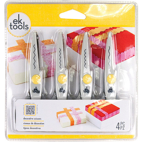 EK tools 4-Pack Decorative Scissors Multi-Colored