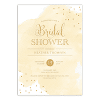 product image personalized wedding bridal shower invitation watercolor confetti 5 x 7 flat