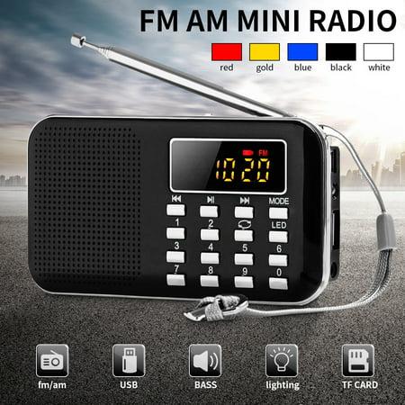 Portable Auto FM AM SW Mini Radio LCD display Speaker MP3 Music Player AUX USB TF](Halloween Kid Music Radio)