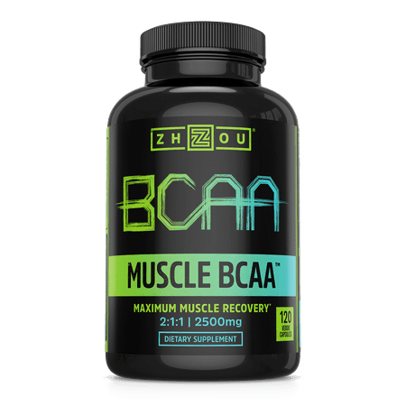 Zhou Nutrition BCAA 2500 Capsules, 120 Ct