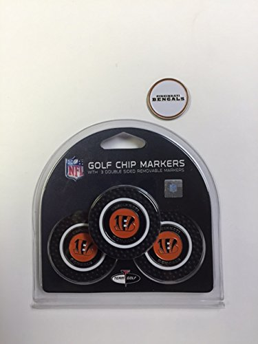 Cinncinnati Bengals 3- PACK Golf POKER CHIPS, with markers, BONUS MARKER FREE by
