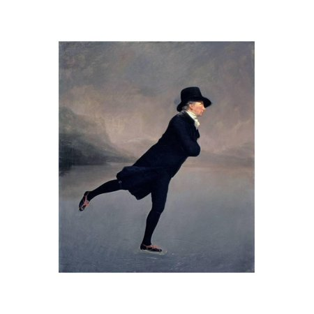 - The Reverend Robert Walker Skating on Duddingston Loch, 1795 Traditional Winter Ice Skating  Figurative Print Wall Art By Sir Henry Raeburn