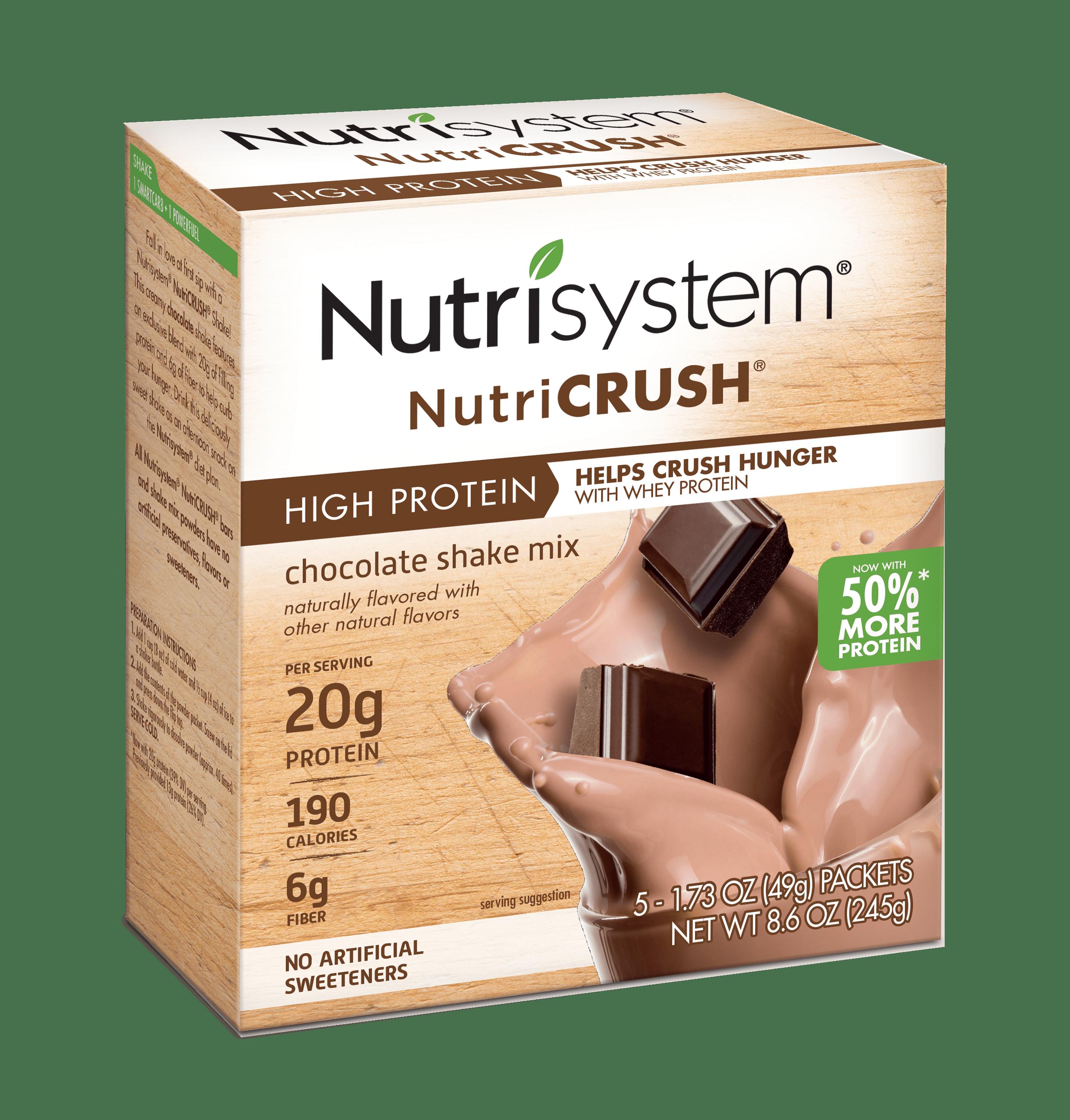 Nutrisystem NutriCrush Chocolate Shake Powder, 1.73 Oz, 20CT