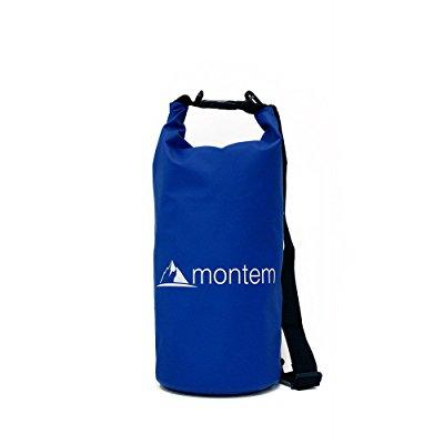 montem waterproof bag   roll top dry bag, 10l blue by