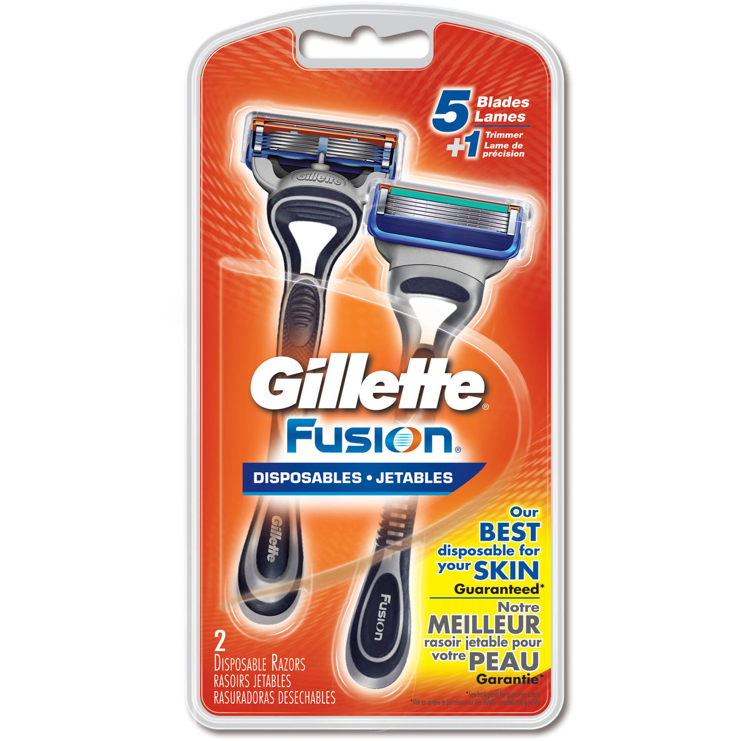 Gillette Fusion Disposable Razors, 2 count