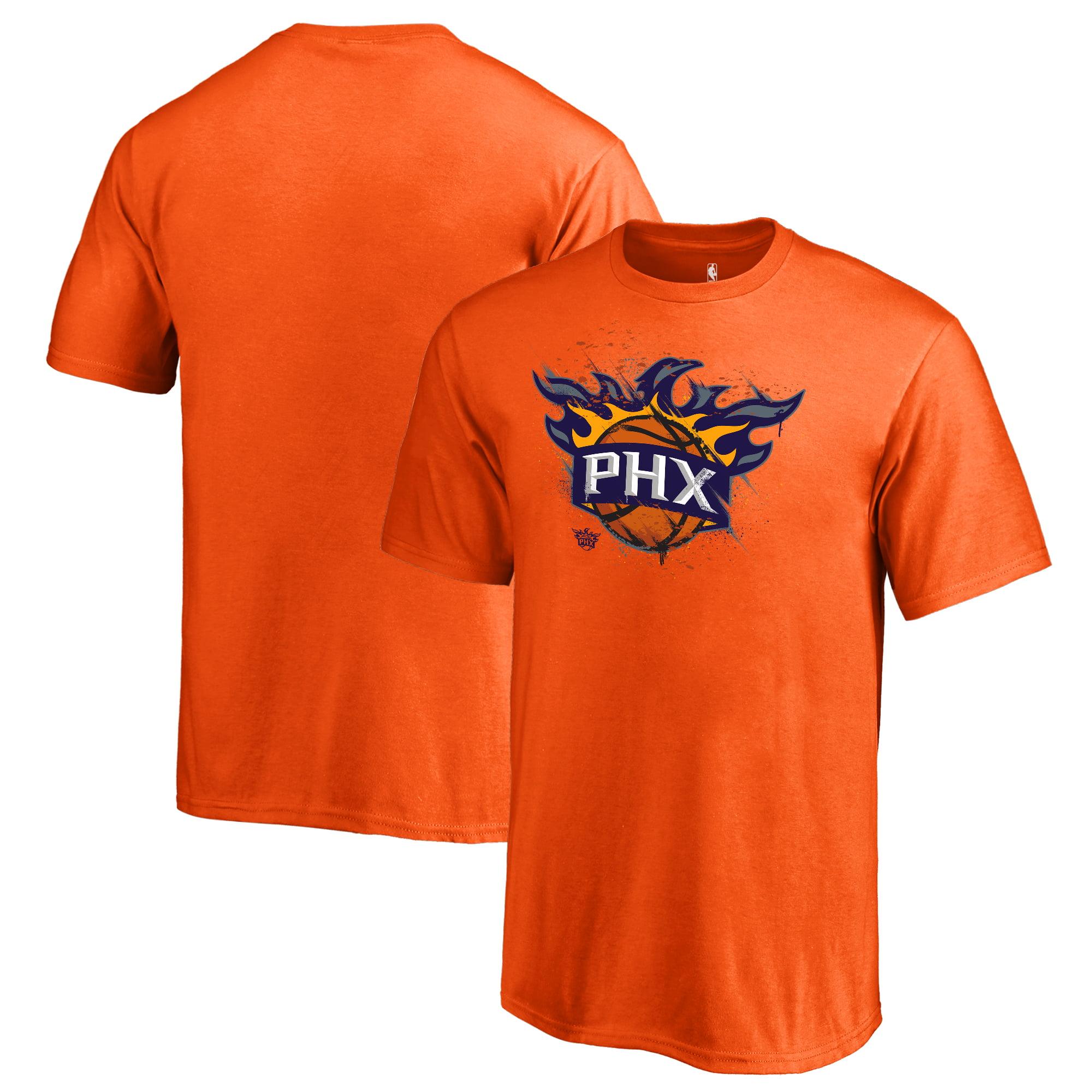 Phoenix Suns Fanatics Branded Youth Splatter Logo T-Shirt - Orange