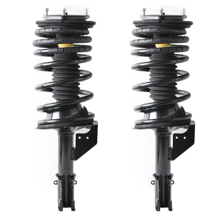 WALFRONT Front Complete Strut Spring Coil Shock Damper Assembly Set For 90-95 Plymouth Voyager 3.3L, Shocks Struts Damper Assembly, Shocks Assembly (Plymouth Reliant Coil Spring)