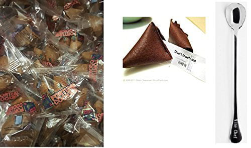 100 Pcs Fortune Cookies Fresh Chocolate Flavo(golden Bowl) by