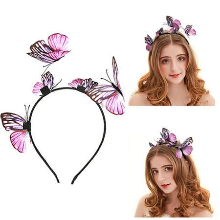 Halloween Headbands For Kids (Halloween Parey Headband Butterfly Hair Hoop Headpiece Hair Accessories for Women)