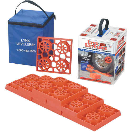 Lynx Levelers 10-Pack RV Leveling Blocks with Nylon Storage Case