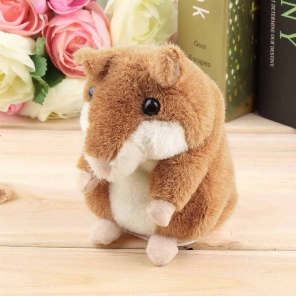 Talking Hamster Toy Buddy Mouse for Kids Electronic Pet Talking Record Plush Toys Interactive Toy Repeat What You Sayfor Early Learning