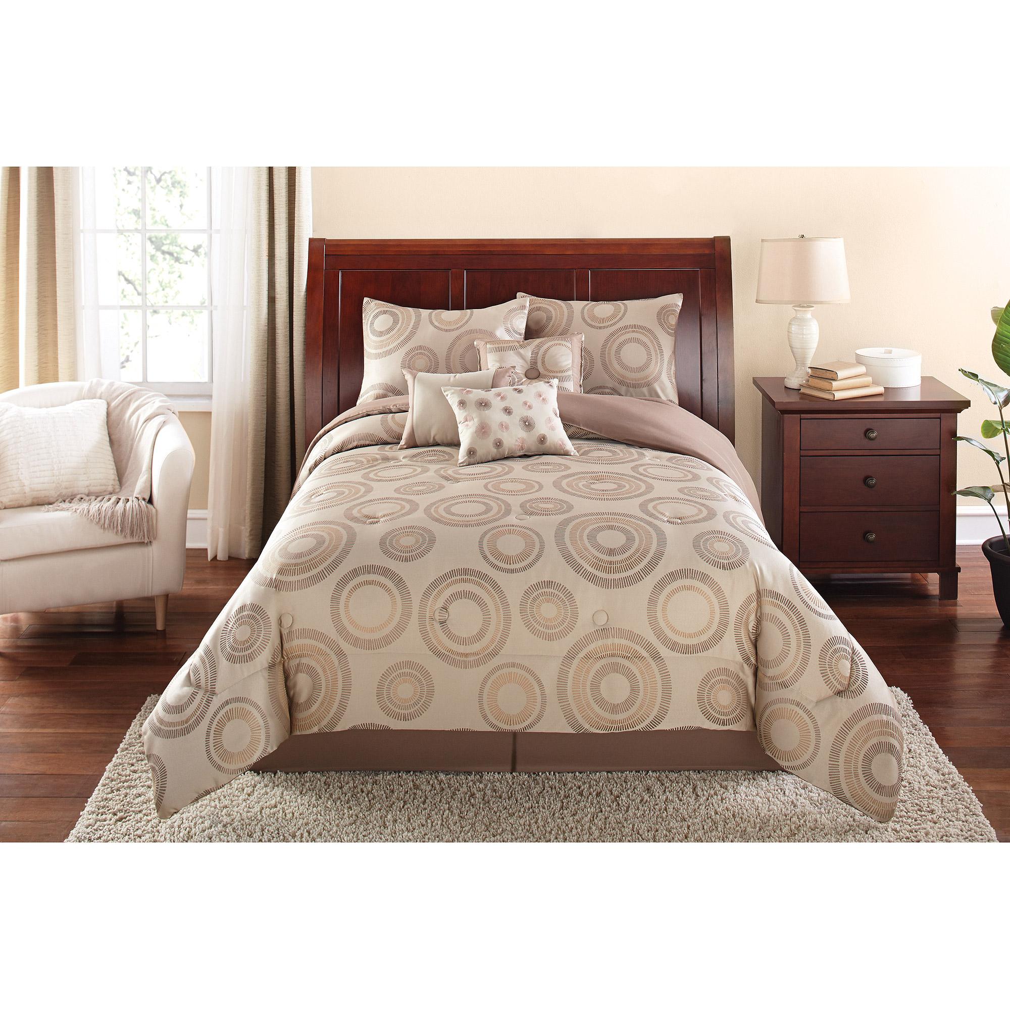 Mainstays 7-Piece Global Circle Bedding Comforter Set