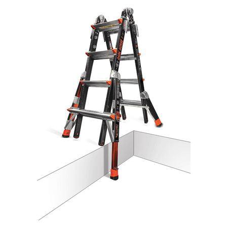 LITTLE GIANT 15147-801 Multipurpose Ladder,Dark Horse,17 ft. (Little Giant Dark Horse Ladder)