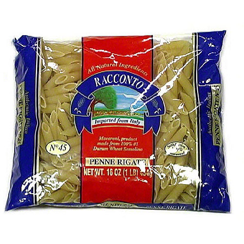 Racconto Penne Rigate Pasta, 16 oz (Pack of 20)