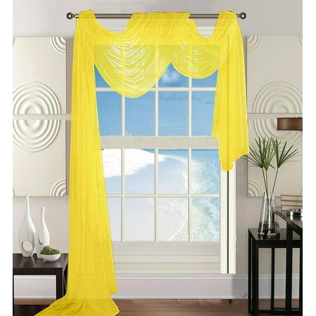Elegant Comfort Beautiful Window Panel Curtain Sheer Voile ...