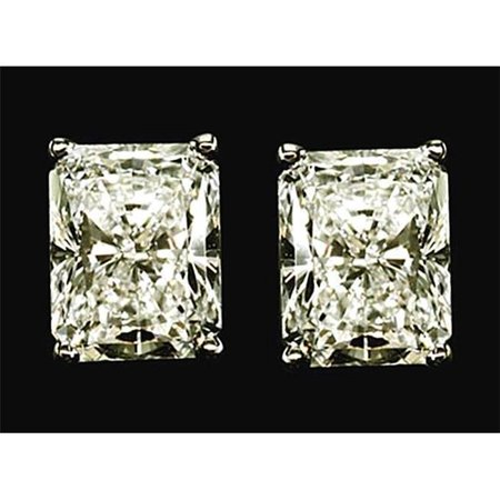Harry Chad Enterprises 33600 2 CT Radiant Diamond Studs Earrings - White Gold - image 1 of 1