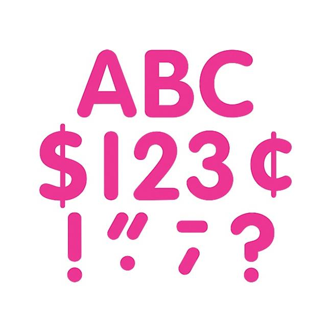 Teacher Created Resources 5386 Hot Pink Classic 4'' Letters Uppercase Pack