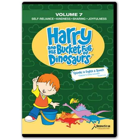 Rising Star Education HBD007 Harry & His Bucket Full of Dinosaurs- Vol. 7 - Self-Reliance- Kindness- Sharing- Joyfulness-