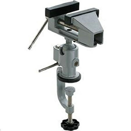 """GHP 2"""" Capacity 3-1/8"""" Wide Jaws Rotating Ball Swivel Adjustable Clamp On Bench Vise"""