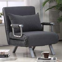 HomCom Suede Convertible Sleeper Chair