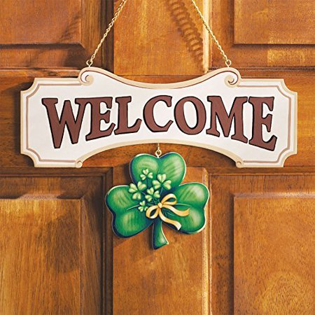 Seasonal Welcome Sign Decoration - 10 Piece Set by Collections Etc (Planet Earth Peace Sign)