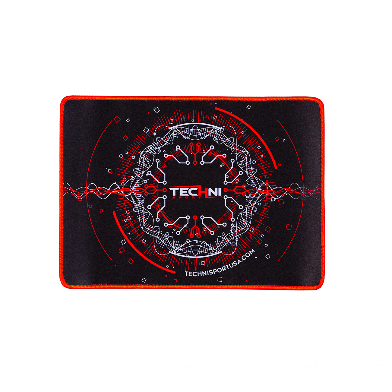 """Techni Sport Ultimate Circuit Gaming Mouse Pad 14"""" x 10"""", Red/Black"""
