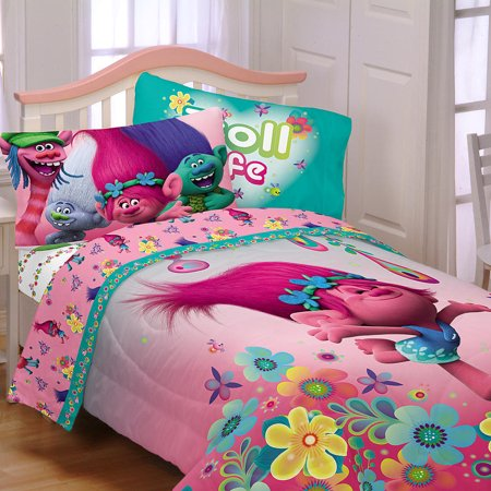 Trolls Reversible Twin Comforter Sheets Amp Bonus Pillow