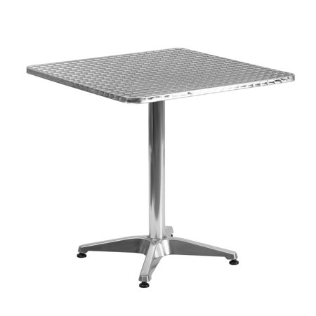 27.5'' Square Aluminum Indoor-Outdoor Table with
