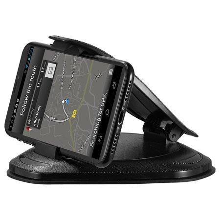 Universal Cell Phone Holder for Car - Dashboard Car Phone Mount Stand Mounting in Pixel Vehicle GPS Holder Compatible with Phone XS X 8 7 6 Plus Samsung Galaxy Note 9 8 and 3-7 Inch Smartphone ()